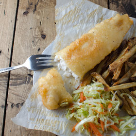 Food & Wine: Tilapia Fish and Chips with Crunchy Coleslaw