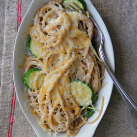 Food & Wine: Whole Wheat Spaghetti and Zucchini Mac and Cheese