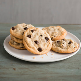 Food & Wine: Chewy Peanut Butter Cookies with Chocolate Chips