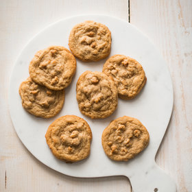 Food & Wine: Chewy Peanut Butter Cookies with Peanut Butter Chips