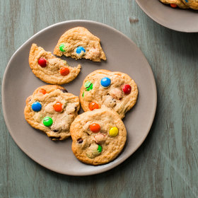 Food & Wine: Soft and Chewy Peanut Butter Cookies with M&M's
