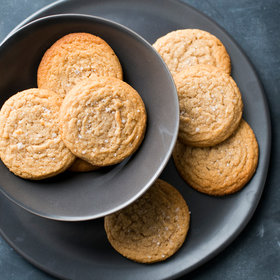 Food & Wine: Soft and Chewy Peanut Butter Cookies with Sea Salt