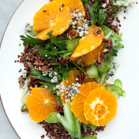 Food & Wine: Black Quinoa with a Citrus-Celery Salad, Gorgonzola Cheese, and Pecans
