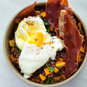 Food & Wine: Black Quinoa with Butternut Squash, Poached Eggs, and Crispy Pancetta