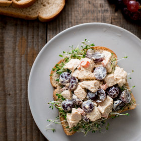 Food & Wine: Chicken-and-Grape Salad Sandwich