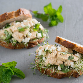 Food & Wine: Chicken Salad Sandwich with Feta and Mint