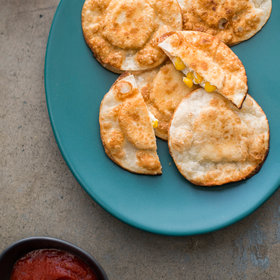 Food & Wine: Crispy Wonton Corn and Ricotta Ravioli