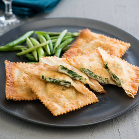 Food & Wine: Crispy Wonton Spinach and Feta Ravioli