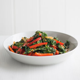 Food & Wine: Red Bell Pepper and Kale Stir-Fry