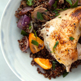 Food & Wine: Roasted Citrus, Red Onion, and Portobello Mushroom Quinoa