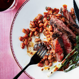 Food & Wine: Skirt Steak with Pinto Beans and Pasilla Chile Vinaigrette