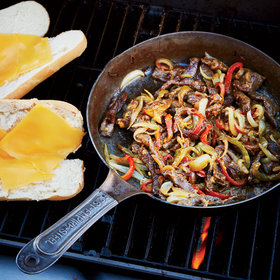 Food & Wine: Grilled Philly Cheesesteaks