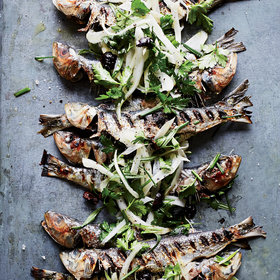 Food & Wine: Grilled Sardines with Herbed Fennel-and-Olive Salad