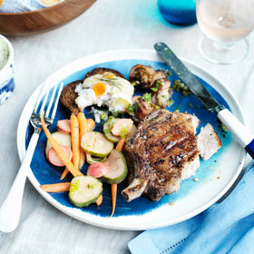 Food & Wine: Grilled Double-Cut Pork Chops