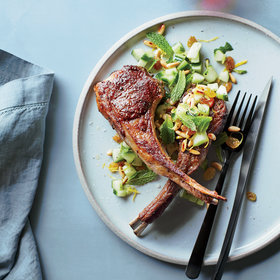 Food & Wine: Grilled Lamb Chops with Cucumber Relish