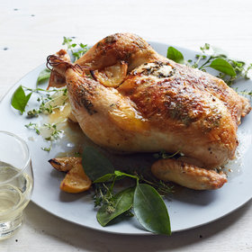 Food & Wine: Lemon-Thyme Roast Chicken
