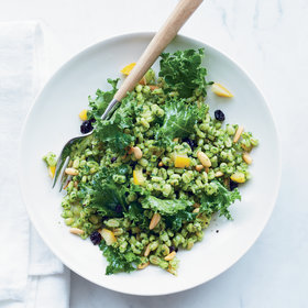 Food & Wine: Lemony Barley Salad with Kale Pesto