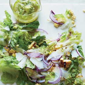 Food & Wine: Romaine and Charred Corn Salad with Avocado Dressing