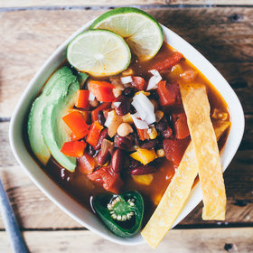 Food & Wine: Vegetarian Three Bean Tortilla Soup