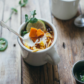 Food & Wine: Vegetarian Tortilla Soup with Sweet Potato