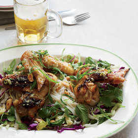 Food & Wine: Spicy Fish Sauce Chicken Wings with Vermicelli Salad
