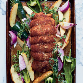 Food & Wine: Ancho-Rubbed Turkey Breast with Vegetables