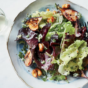 Food & Wine: Grilled Fig Salad with Spiced Cashews