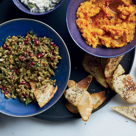 Food & Wine: Green Olive, Walnut and Pomegranate Dip