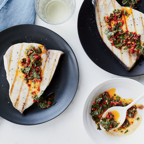 Food & Wine: Grilled Swordfish with Cilantro-Chile Vinaigrette