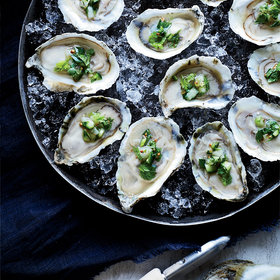 Food & Wine: Oysters on the Half Shell with Ceviche Topping