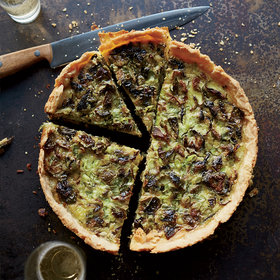 Food & Wine: Roasted Brussels Sprout and Gruyère Quiche