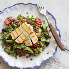 Food & Wine: Grilled Halloumi and Lentil Salad