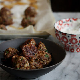 Food & Wine: Lamb Meatballs with Yogurt Sauce