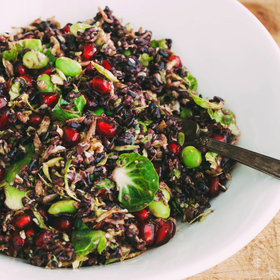 Food & Wine: Black Rice Salad with Shaved Brussels Sprouts, Edamame and Pomegranate