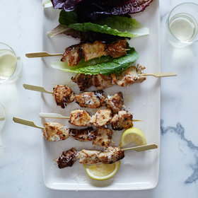 Food & Wine: Chicken Caesar Skewers