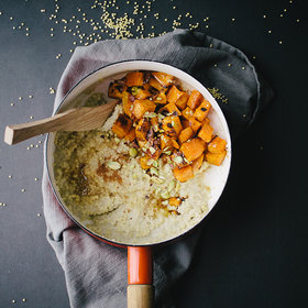 mkgalleryamp; Wine: Creamy Millet Porridge with Candied Sweet Potatoes and Pistachios