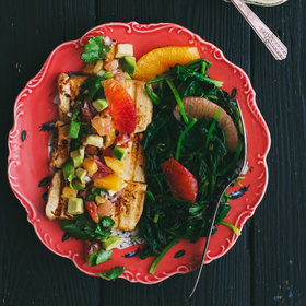 mkgalleryamp; Wine: Grilled Marinated Tofu with Citrus Salsa