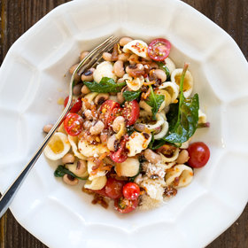 Food & Wine: Orecchiette with Bacon, Black-Eyed Peas and Spinach