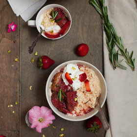 mkgalleryamp; Wine: Rhubarb and Rosemary Overnight Oats