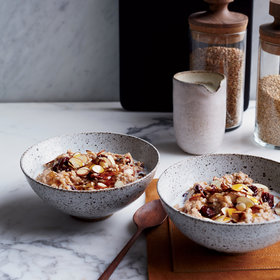mkgalleryamp; Wine: Creamy Steel-Cut Oats with Dried Cherries and Almonds