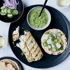 Food & Wine: Fish Tacos with Tomatillo-Jalapeño Salsa
