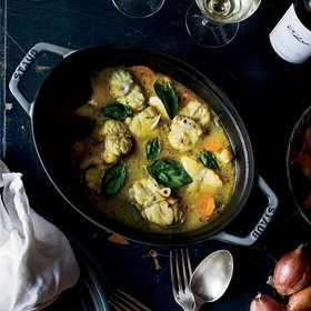 Food & Wine: Monkfish Stew with Saffron Broth