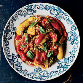 Food & Wine: Roasted Peppers with Garlicky Breadcrumbs