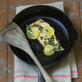 Food & Wine: Caper and Lemon Baked Salmon