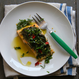 Food & Wine: Chimichurri Baked Salmon