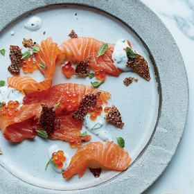 Food & Wine: Quick-Cured Salmon with Salmon Cracklings