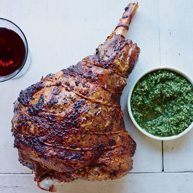 mkgalleryamp; Wine: Roast Leg of Lamb with Hemp Seed Pesto