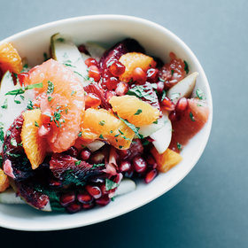 mkgalleryamp; Wine: Winter Fruit Salad in Ginger-Lime Syrup