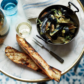 Food & Wine: Mussels with Caramelized Fennel and Leeks
