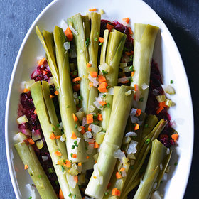 Food & Wine: Leeks Vinaigrette